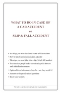 What to do in case of a Motor Vehicle Accident or Slip & Fall Accident